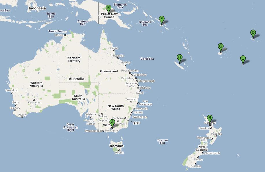 Oceania region with dental and laboratory customers in Melanesia (Papua New Guinea, Solomon Islands, Fiji and New Caledonia), and Polynesia (New Zealand, Tonga and Samoa)
